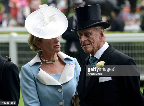 Prince Philip Duke of Edinburgh attends day three of Royal Ascot at Ascot Racecourse on June 19 2014 in Ascot England