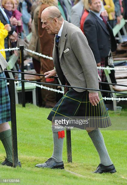 Prince Philip Duke of Edinburgh attends the Braemar Highland Gathering on September 1 in Braemar Scotland