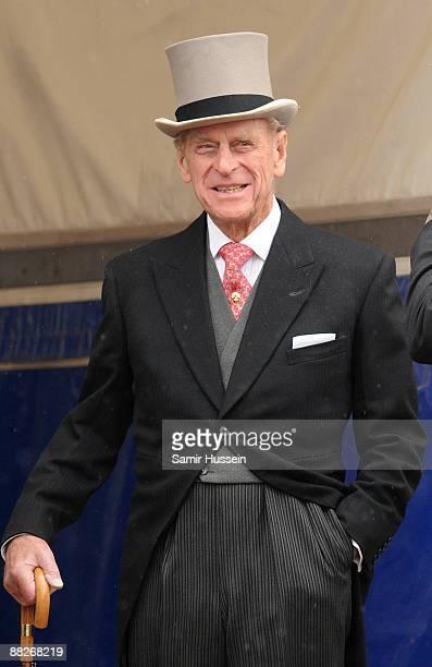 Prince Philip, Duke of Edinburgh attends the Epsom Derby on June 6, 2009 in Epsom, England.
