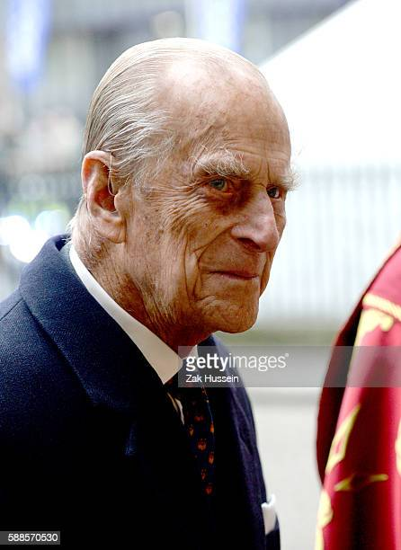 Prince Philip Duke of Edinburgh attends the inauguration of the tenth General Synod at Westminster Abbey in London