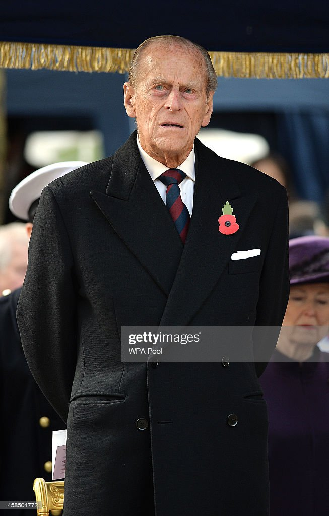 Prince Philip, Duke of Edinburgh attends the opening of the Flanders Field Memorial outside the Guards Chapel on November 6, 2014 in London, England.