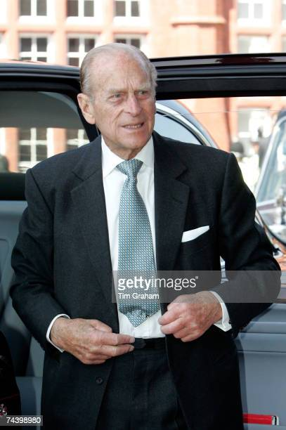Prince Philip Duke of Edinburgh attends the opening of the National Welsh Assembly at the Senedd building on June 5 2007 in Cardiff Bay Wales