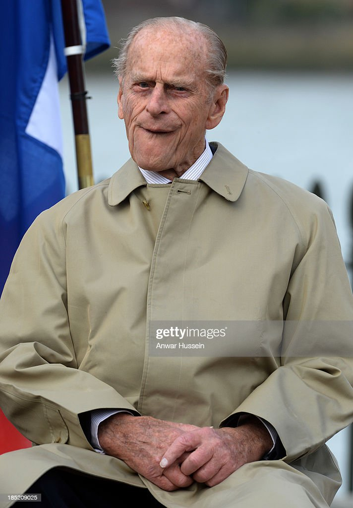 Prince Philip, Duke of Edinburgh attends the renaming ceremony for the clipper ship 'The City of Adelaide' on October 18, 2013 in London, England.