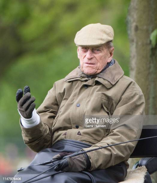 Prince Philip Duke of Edinburgh attends the Royal Windsor Horse Show 2019 on May 09 2019 in Windsor England