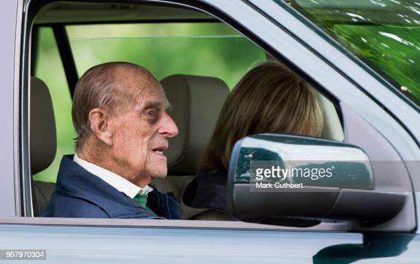 Prince Philip Duke of Edinburgh attends the Royal Windsor Horse Show at Home Park on May 13 2018 in Windsor England