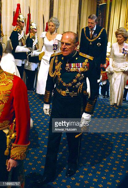 HRH Prince Philip Duke of Edinburgh attends the State opening of Parliament on Tuesday May 17 2005