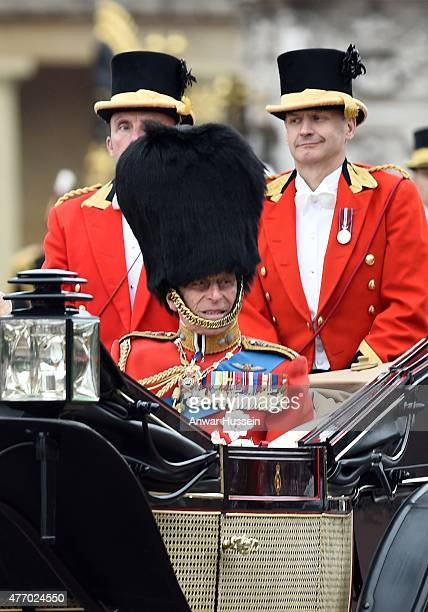 Prince Philip Duke of Edinburgh attends the Trooping the Colour Ceremony on June 13 2015 in London England