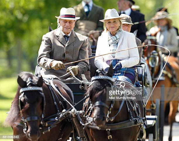 Prince Philip Duke of Edinburgh carriage driving as he takes part in the Champagne LaurentPerrier meet of the British Driving Society on day 5 of the...