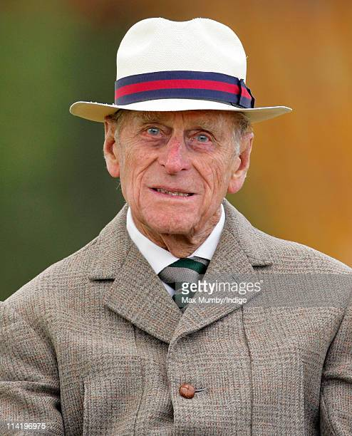 Prince Philip Duke of Edinburgh carriage driving in the Laurent Perrier meet of the British Driving Society on day 5 of the Royal Windsor Horse Show...