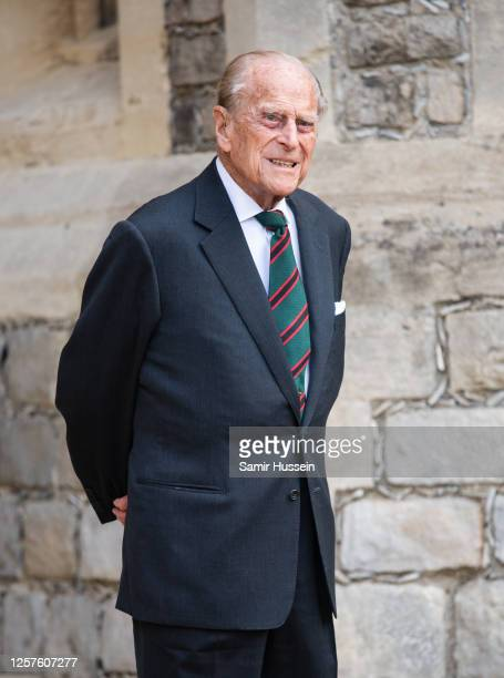 Prince Philip, Duke of Edinburgh during the transfer of the Colonel-in-Chief of The Rifles at Windsor Castle on July 22, 2020 in Windsor, England....