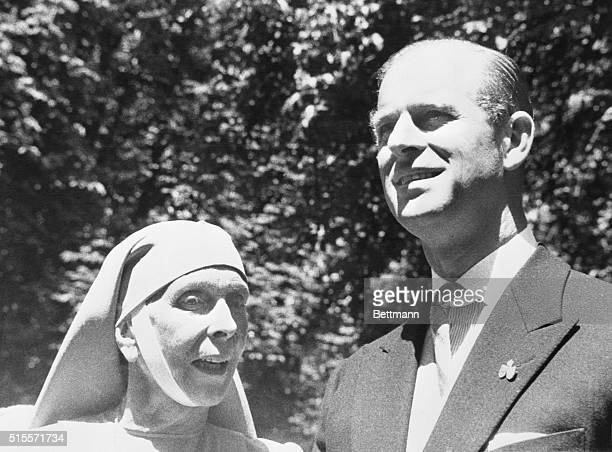 Prince Philip, Duke of Edinburgh, husband of Britain's Queen Elizabeth II, is shown in a reunion with his mother, Princess Alice of Greece. They met...