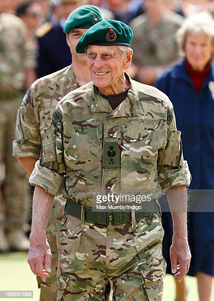 Prince Philip, Duke of Edinburgh, in his role as Captain General Royal Marines, attends the Afghanistan Operational Service Medals Parade for 40...
