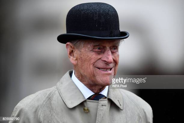 Prince Philip Duke of Edinburgh in his role as Captain General Royal Royal Marines makes his final individual public engagement as he attends a...