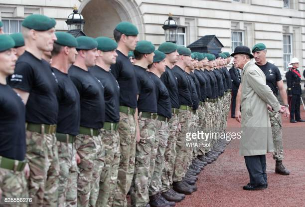 Prince Philip, Duke of Edinburgh in his role as Captain General, Royal Marines, makes his final individual public engagement as he attends a parade...