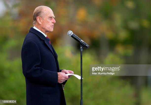 Prince Philip, Duke of Edinburgh, in his role as Colonel of the Grenadier Guards gives a speech before presenting Afghanistan Operational Service...