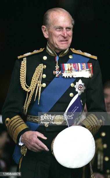 Prince Philip, Duke of Edinburgh leaves after a commemoration service in St. Paul's Cathedral to mark the 200th anniversary of the battle of...