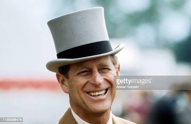 Prince Philip Duke of Edinburgh looks handsome in a top hat circa 1970 in England