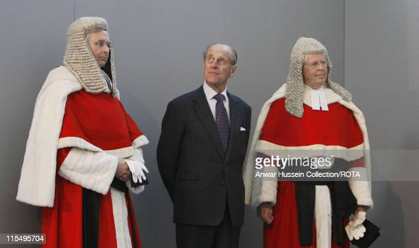 Prince Philip, Duke of Edinburgh meets the judiciary at the new Criminal Justice Centre on February 28, 2008 in Manchester, England.
