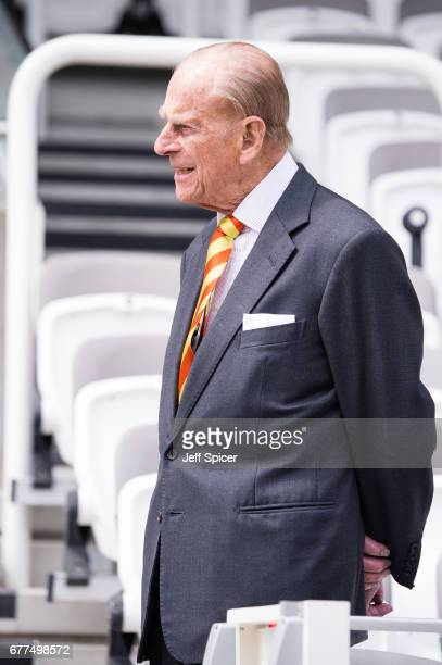 Prince Philip Duke of Edinburgh opens the new Warner Stand at Lord's Cricket Ground on May 3 2017 in London England The Duke of Edinburgh is an...