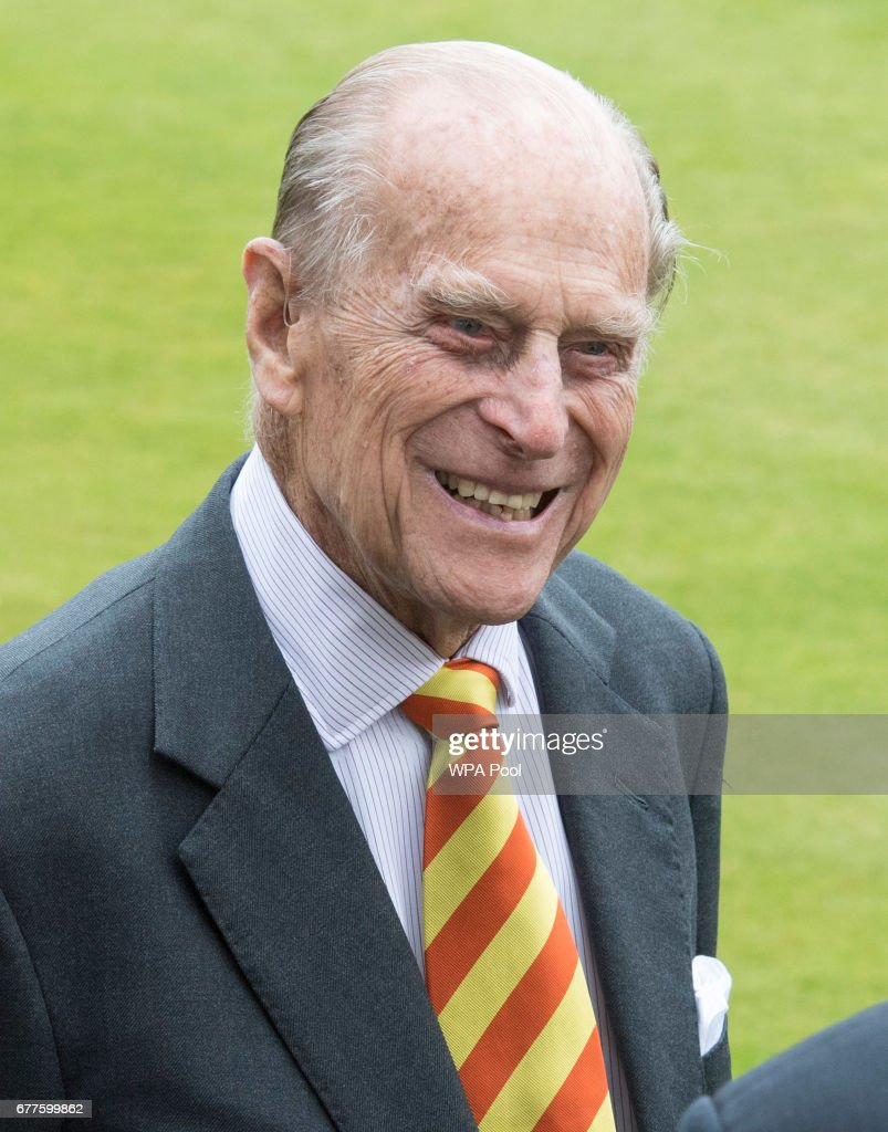 Prince Philip, Duke of Edinburgh opens the new Warner Stand at Lord's Cricket Ground on May 3, 2017 in London, England. The Duke of Edinburgh is an honorary Life Member of Marylebone Cricket Club.