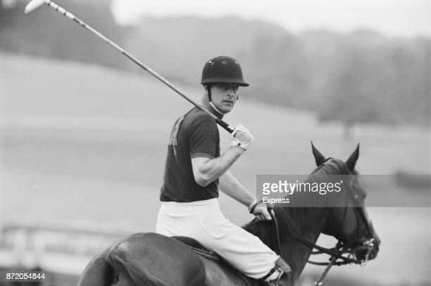 Prince Philip, Duke of Edinburgh, playing polo at Windsor Park, UK, 28th July 1967.