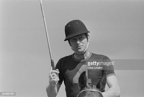 Prince Philip Duke of Edinburgh playing polo in Windsor Park Berkshire 29th May 1967