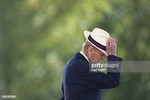 Prince Philip, Duke of Edinburgh presents Operational Service medals to the 4th Battalion, The Royal Regiment of Scotland on June 12, 2014 in...