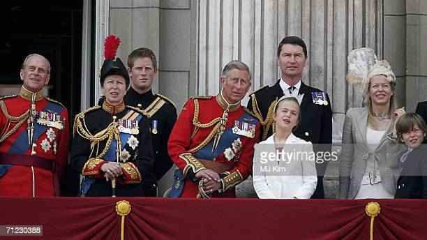 Prince Philip Duke of Edinburgh Princess Anne Princess Royal Prince Harry Prince Charles Prince of Wales Timothy Laurence Lady Helen Taylor and her...