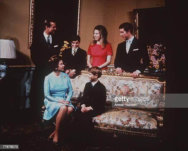 Prince Philip, Duke of Edinburgh, Queen Elizabeth II, Prince Andrew, Duke of York, Princess Anne, Princess Royal, Prince Charles, Prince of Wales and...