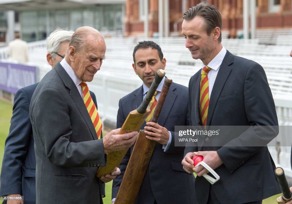 The Duke Of Edinburgh Opens New Warner Stand At Lord's Cricket Ground : Nieuwsfoto's