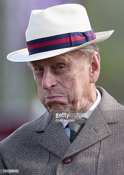 Prince Philip Duke of Edinburgh takes part in the carriage driving as he attends day five of the Royal Windsor Horse Show at Home Park on May 13 2012...