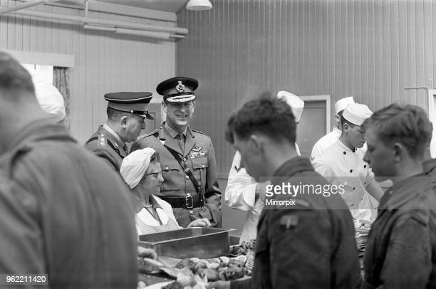 Prince Philip, Duke of Edinburgh, visiting the Infantry Junior Leaders Battalion at Park Hall Camp, Oswestry, Shropshire, 26th May 1967.