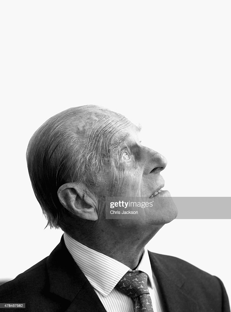 Prince Philip, Duke of Edinburgh visits St Paul's Church on day three of a four day State Visit to Germany on June 25, 2015 in Frankfurt am Main, Germany.