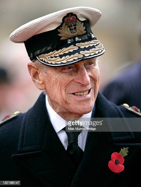 Prince Philip Duke of Edinburgh visits the Field of Remembrance at Westminster Abbey on November 10 2011 in London England The First Royal British...