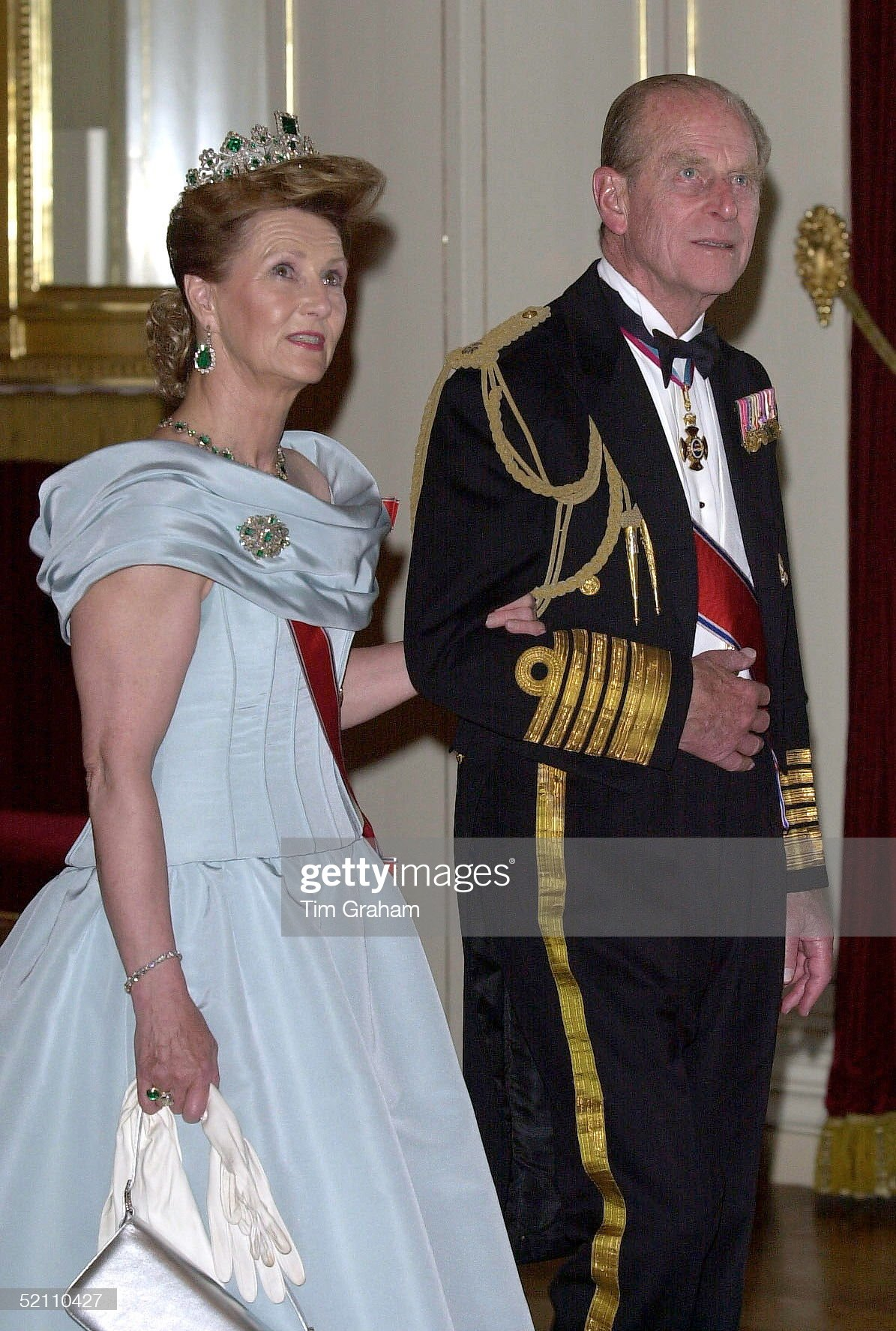 Prince Philip And Queen Sonja At Banquet : News Photo