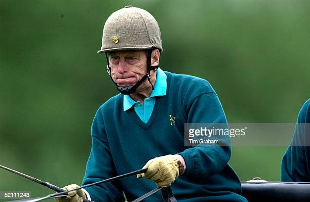 Prince Philip, In Deep Concentration, Competing In The Cross Country Section Of The International Carriage Driving Grand Prix Championships At The...