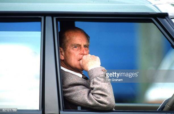 Prince Philip In His Range Rover 4-wheel Drive Vehicle, 11th May 1985.