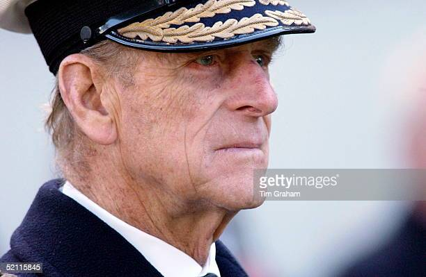 Prince Philip In Naval Uniform Visiting The Field Of Remembrance At Westminster Abbey Commemorating The War Dead