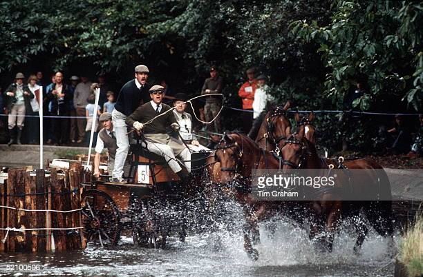 Prince Philip In The World Carriage Driving Championships Marathon Competition At Windsor