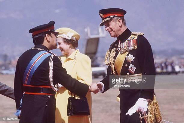 Prince Philip Meeting King Birendra Of Nepal