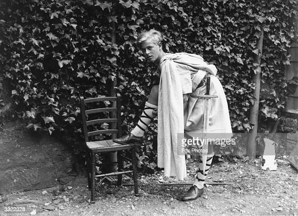 Prince Philip of Greece dressed for Gordonstoun School's production of 'MacBeth', Moray, Scotland, July 1935.