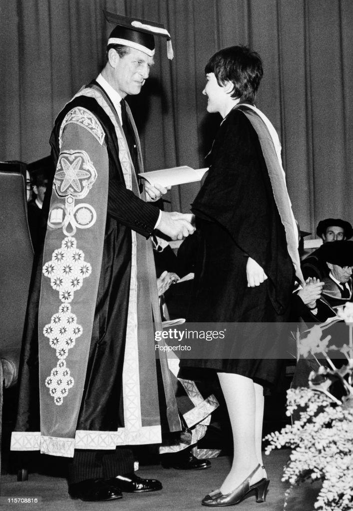 University Chancellor Prince Philip Presents A Degree : News Photo