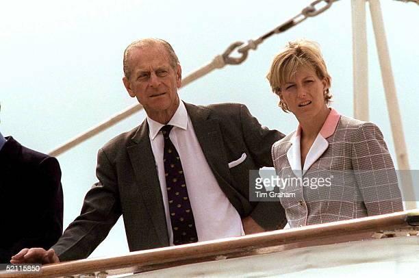 Prince Philip Sophie Rhysjones On Hmy Britannia At Aberdeen Scotland