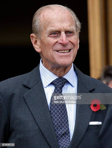 Prince Philip, The Duke of Edinburgh arrives at the Great North Museum for an official visit during a day of engagements in Tyne and Wear on November...