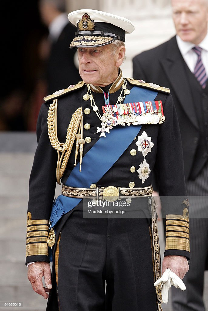 HRH Prince Philip, The Duke of Edinburgh attends a service of commemoration to mark the end of combat operations in Iraq at St Paul's Cathedral on October 9, 2009 in London, England.