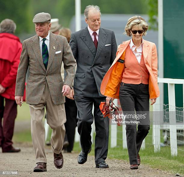 HRH Prince Philip The Duke of Edinburgh Norton Knatchbull Lord Brabourne and Lady Penny Brabourne during day three of the Royal Windsor Horse Show...