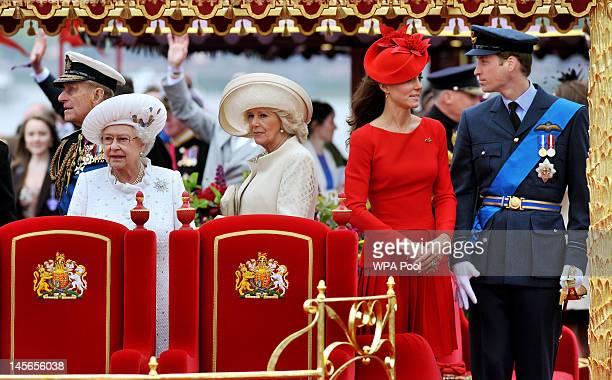 Prince Philip The Duke of Edinburgh Queen Elizabeth II Camilla Duchess of Cornwall Catherine Duchess of Cambridge and Prince William Duke of...