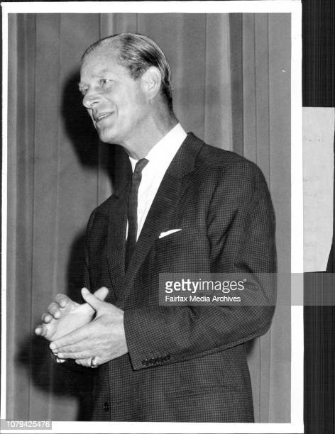 Prince Philip today personally made the presentation of Gold Awards in connection with the Duke of Edinburgh's Award in Australia at a ceremony at...