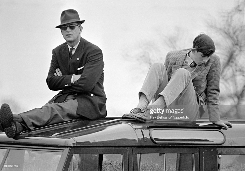 Prince Philip With Prince Charles At The Badminton Horse Trials : ニュース写真