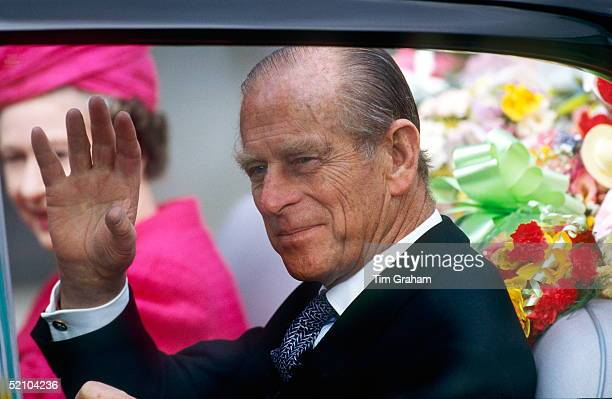 Prince Philip With The Queen In A Car After Attending Maundy Service